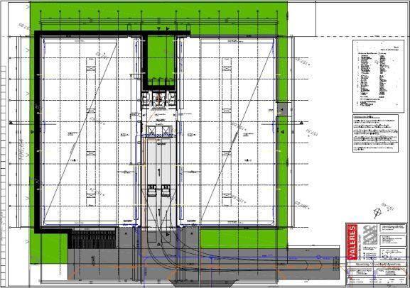 Ausführungsplanung erster Bauabschnitt - Grundriss