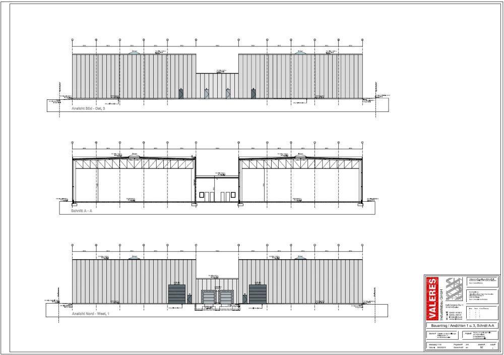 Ausführungsplanung erster Bauabschnitt - Aussenansicht