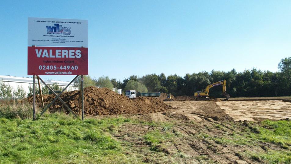 WilTec Bauvorhaben: Ernst-Abbe-Str. - Eschweiler Tag 1