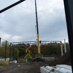 Woche 4 – WilTec Bauvorhaben: Beginn der Stahlmontage